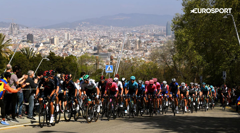 Maantiepyöräilyä Eurosportilla