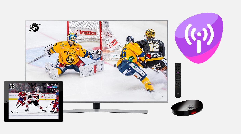 Liigapassi + Viasat Jääkiekko + laajakaista + Telia TV + Tallennuspalvelu
