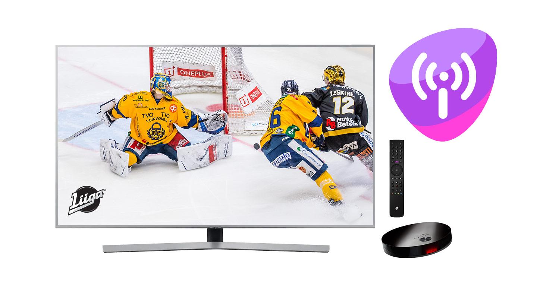 Liiga + nettiliittymä + Telia TV tallennuspalvelulla