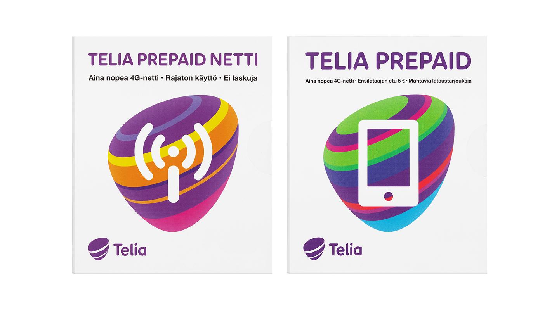 Telia Prepaid puhelinliittymä ja mobiilinetti