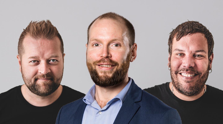 Antti Ahola, Fredrik Slotte ja Tommi Maijanen